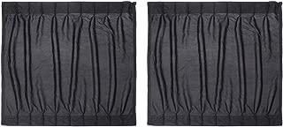 VORCOOL Car Side Window UV Protection Curtain Car Slidable Window Shield 2pcs (Black)