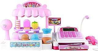 Fangfeen Simulazione Supermercato Gelateria Ragazze Giocattoli di plastica stabilita per Bambini registratore di Cassa per...