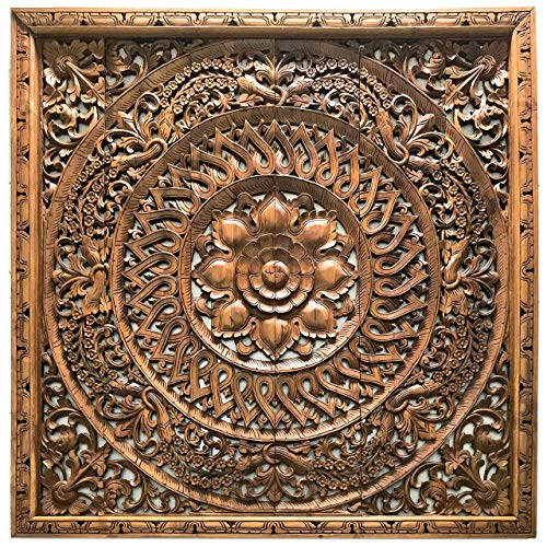 Get The Wall Art Hanging King Headboard Bedroom Furniture Mural House Decoration Wooden Asian Accent Wood Hand Carved From Thailand 72x72 Inches From Amazon Now Accuweather Shop