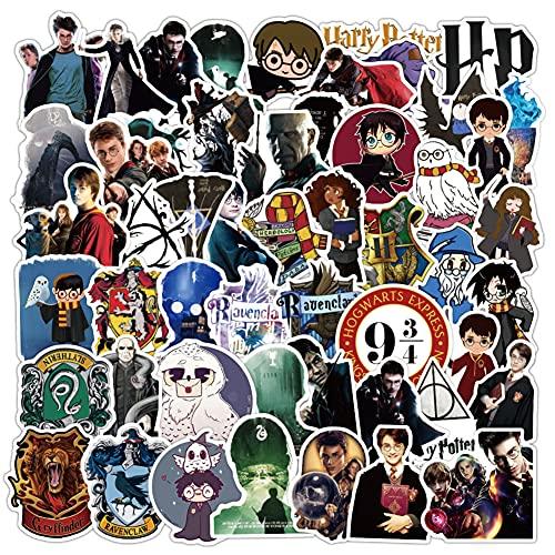 100Pcs Harry Potter Adesivi Stickers : Cool Unici Adesivo per Bombole d'Acqua Adesivo, Hilloly Adesivo per Valigie, Snowboard, Biciclette, Skateboard, Skateboard, Impermeabilisivo Durabile Cute Cool