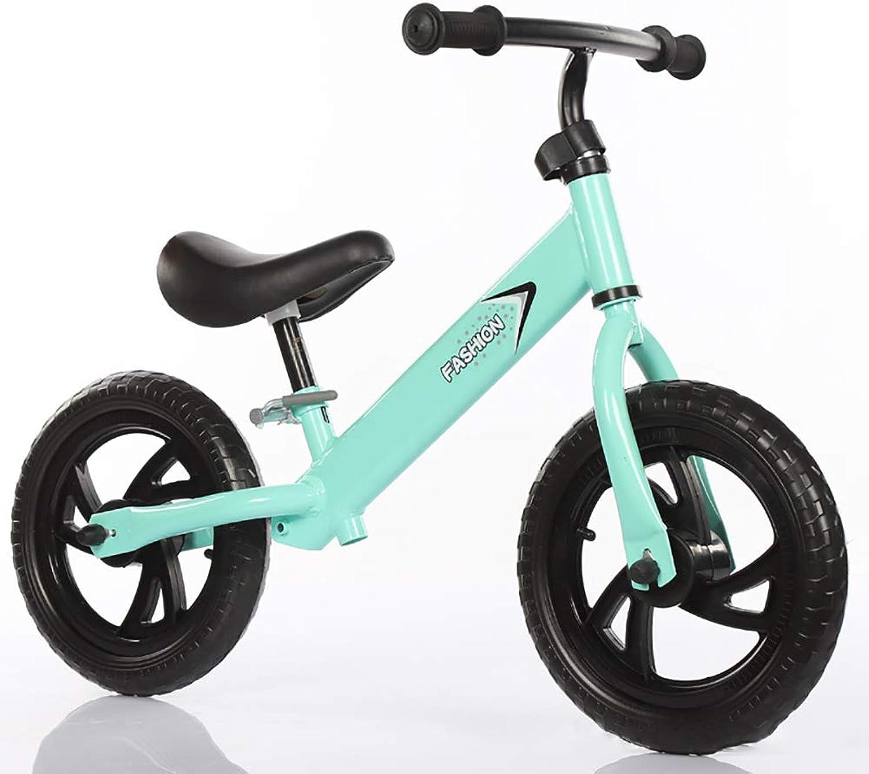 hasta un 60% de descuento LM-YGS Equilibrio Unisex Unisex Unisex de Bicicleta Ajustable Altura del Asiento Sin pedalear Bicicleta de Entrenamiento, para Niños de 2 a 6 años y Niños pequeños,verde  100% garantía genuina de contador