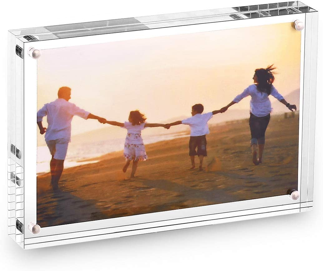 HESIN Acrylic Photo Frame 4 by 6 inch Double Sided Frameless Pic