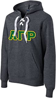 Alpha Gamma Rho Lace up Pullover Hooded Sweatshirt