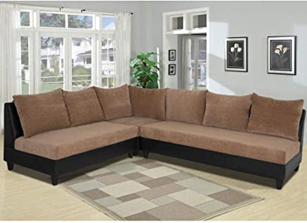 Amazon.in: l shaped sofa - Sofas & Couches / Living Room Furniture ...
