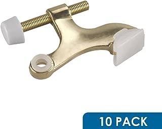 10 Pack Rok Hardware Heavy Duty Hinge Pin Door Stop, Brass ROKDSP1B