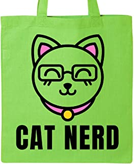 Cat Nerd with Cat in Glasses Tote Bag