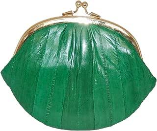 New Double EEL Skin Change Purse Green #E10-BIG