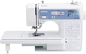 Brother XR9550PRW Sewing and Quilting Machine, Project Runway, 165 Built-in Stitches, LCD Display, Wide Table, 8 Included ...