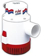 Rule 4000 GPH Marine Bilge Pump, Non-Automatic