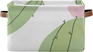 Paniers de rangement Boîte à étagères pour organisateur de placard à impression abstraite Cactus avec poignée Bacs de rang...