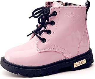 DADAWEN Boy's Girl's Waterproof Side Zipper Lace-Up Ankle...