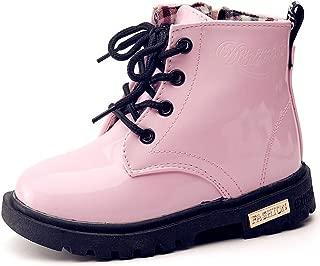 Boy's Girl's Waterproof Side Zipper Lace-Up Ankle Boots...
