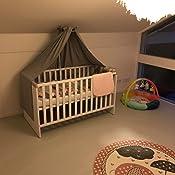 cm quer verwendbar 280x170 Babybetten seitlich Sugarapple Himmel f/ür Kinderbetten 100/% /Öko-Tex Baumwolle Karo grau BxH