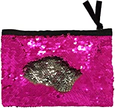 Winmany Sequin Makeup Bag Reversible Cosmetic Bag, Fashion Women Handbag Bling Glitter Evening Party Bag,Sparkling Shiny Clutch Handbag Wedding Bag Purse Wallet Pouch