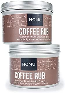 NOMU Coffee Seasoning Rub Blend (2-Pack   4.9oz)   MSG & Gluten Free, Non-GMO, Non-Irradiated