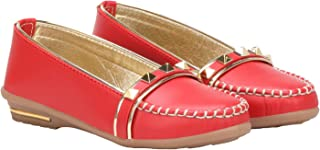 calzino Girls Casual Flat Loafers and Belly