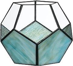 شمعدان هندسي من Sullivans G8127 طول × 17.78 عرض × 15.24 ارتفاع ، أزرق
