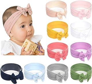 DANMY Baby Girl Nylon Headbands Newborn Infant Toddler Hairbands Bows Children Soft Headwrap Hair Accessories