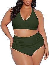 $26 » Sponsored Ad - Sovoyontee Women's 2 Piece Plus Size High Waisted Halter Bikini Swimsuit Bathing Suit