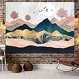 NHhuai Tapiz para Colgar en la Pared, Tapestry, Colgante de Pared decoración Tela Puesta de Sol colinas