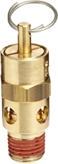 Midwest Control SW10-265 ASME Soft Seat Safety Valve All Brass with Stainless Steel Springs 1 1 NPT 1 NPT 250 Degree F Max Temperature 265 psi