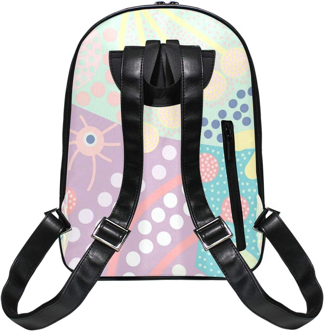 Bright Cute Doodle Pattern Cartoon Girls Backpacks for Elementary School Bookbag Boys 3rd 4th 5th Grade