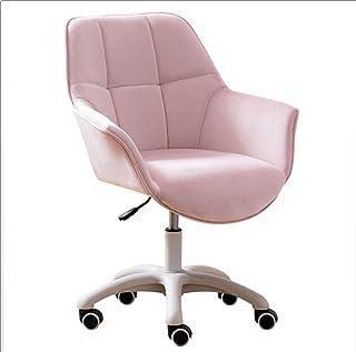 Escritorios y sillas de oficina de terciopelo con relleno grueso, reclinable oficial y moderno, ergonómico, oficina reclinable, oficina en casa, soporte giratorio de altura ajustable 360 °