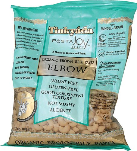 Tinkyada Organic Brown Rice Pasta Elbows Gluten Free -- 3 pack of 12 oz