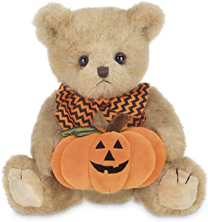 Bearington Jake Jack O' Lantern Plush Stuffed Animal Halloween Teddy Bear with Pumpkin, 10 inch