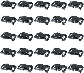 Black Plastic Side Release Buckles for Paracord Bracelets (5/8 Inch, 50 Pack)