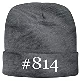 BH Cool Designs #814 - Men's Hashtag Soft & Comfortable Beanie Hat Cap, Grey, One Size