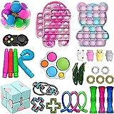 SONIGER Fidget Toys Pack, Push Bubble Simple Dimple Sensory Fidget Toy Box Set di Giocattoli...