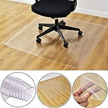 Leoie Office Desk Rolling Chair Mat for Hardwood Floor, Transparent Anti-Slip PVC Hard Floor Protector 40\u00c3\u009760cm