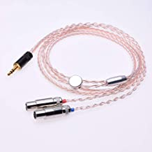 1.2m (4ft) DIY Hi-end 8 Cores 5n Pcocc Hybrid Silver Plated Headphone Upgrade Cable for Audeze LCD-2 LCD-3 LCD-x LCD-xc