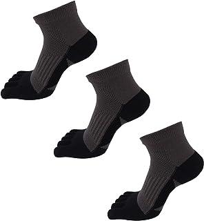 AIEOE, Pack de Calcetines de Dedos para Hombre Transpirable de Algodón Calcetines Deportivos Cortos para Running Ciclismo - Talla 39-44