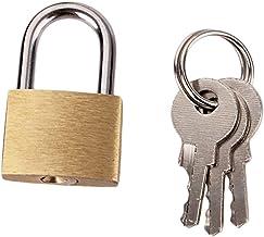 Easyeeasy Klein metalen hangslot Massief messing minislot Stijlvol en zeer duurzaam Perfect voor juwelendoosjes, aktetasse...