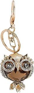 LABANCA جميل البومة حلقة مفتاح سلسلة لامعة حجر الراين قلادة سلسلة المفاتيح حقيبة يد سحر الملحقات حقائب المحفظة الديكور