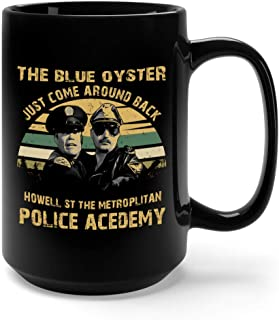 The Blue Oyster Just Come Around Back Howell St The Metroplitan Police Acedemy Vintage Ceramic Coffee Mug Tea Cup (15oz, Black)