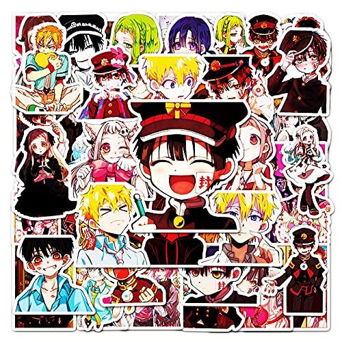 KEJIA Pegatinas de Hanako-kun para niños en el Suelo, Pegatinas de Graffiti con Dibujos Animados de cómics japoneses, 50 Hojas
