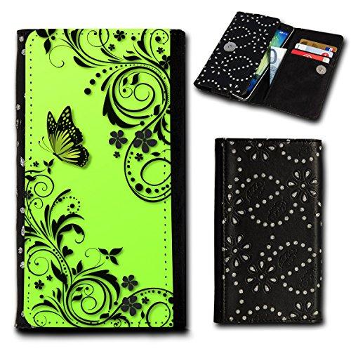 Strass Book Style Flip Handy Tasche Hülle Schutz Hülle Foto Schale Motiv Etui für HTC One A9 - Flip SU4 Design11