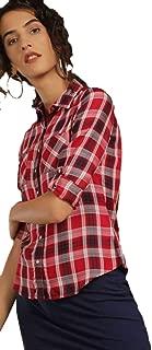 DJ & C By FBB Checks Shirt with Pockets DEEP RED