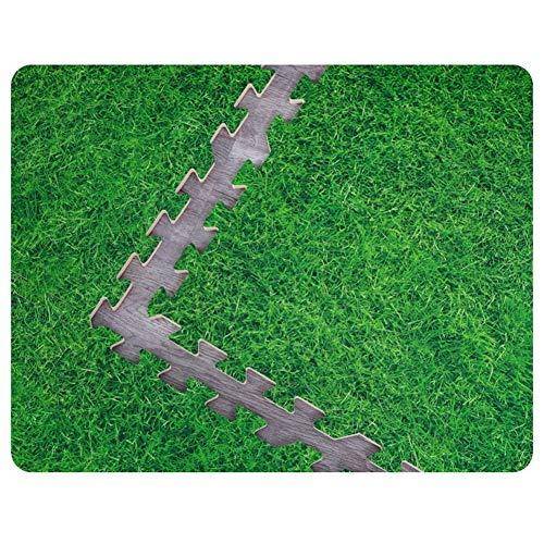 alfombra puzzle Bebe Antideslizante Resistente Al Desgaste Anti Caída Impermeable Césped Verde Habitación (Color : Green, Size : 60x60x1cm 4PCS)