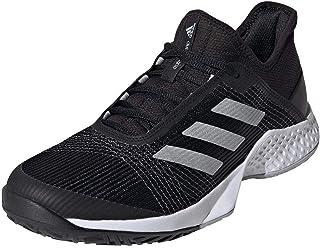 Men's Adizero Club Tennis Shoe, Core Black Signal Coral FTWR White, 12 UK/8 us
