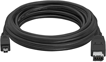 Cmple - 15FT FireWire IEEE 1394 Cable/iLink 6 Pin to 4 Pin Male to Male DV Cable 4-Pin to 6-Pin FireWire Cable Cord for Computer Laptop PC to JVC Sony Camcorder - 15 Feet Black