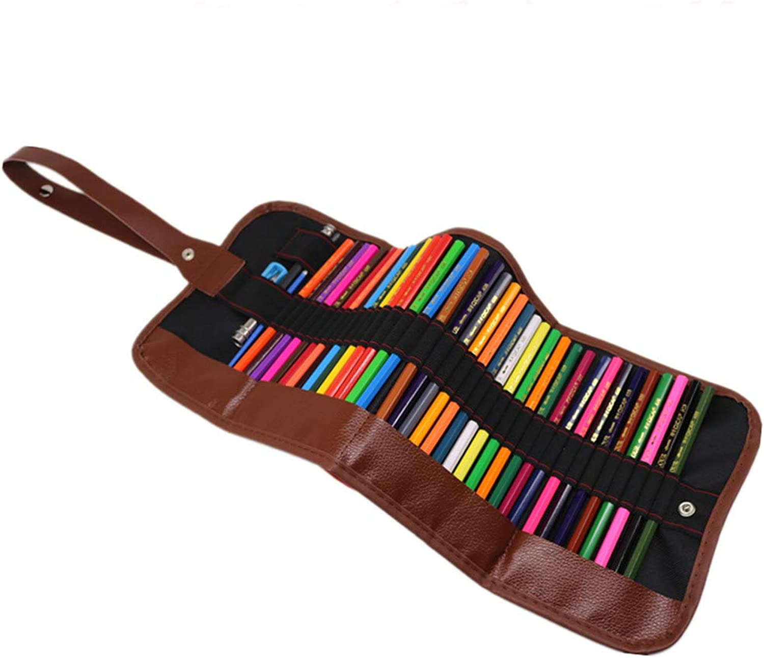 Colouring Pencil Set Kids School Supplies Non-Toxic Water Soluble Colouring Assorted colors with Sharpener Rollable Canvas Bag Convenient and Easy-to-Carry