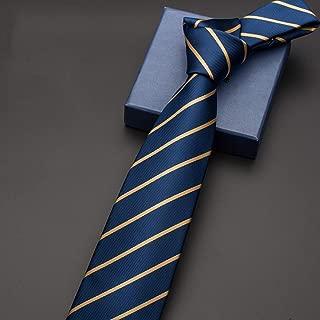Solid Color Skinny Tie Slim Necktie for Men 145 × 8cm CQQO (Color : E)