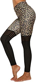 HUAZHUO BBY Women's Yoga Leggings, Printed Leopard Patterns Yoga Pants, Non See-Through High Waist Fitness Tights for Women