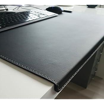 Gewinkelte Schreibtischunterlage Mit Kantenschutz Sanft Lux Leder 60 X 38 Schwarz Silbergraue Naht Amazon De Burobedarf Schreibwaren