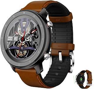 APCHY Smart Watch,Fitness Tracker con Monitor De Sueño De Frecuencia Cardíaca, Rastreador De Actividad Impermeable De 5Atm con Esfera Personalizada, Relojes Inteligentes para Hombres,Marrón