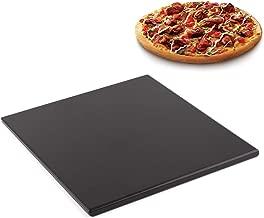 "Waykea 12""x12"" Black Ceramic Pizza Stone Baking Grilling Stone for BBQ Grill Oven RV Oven"
